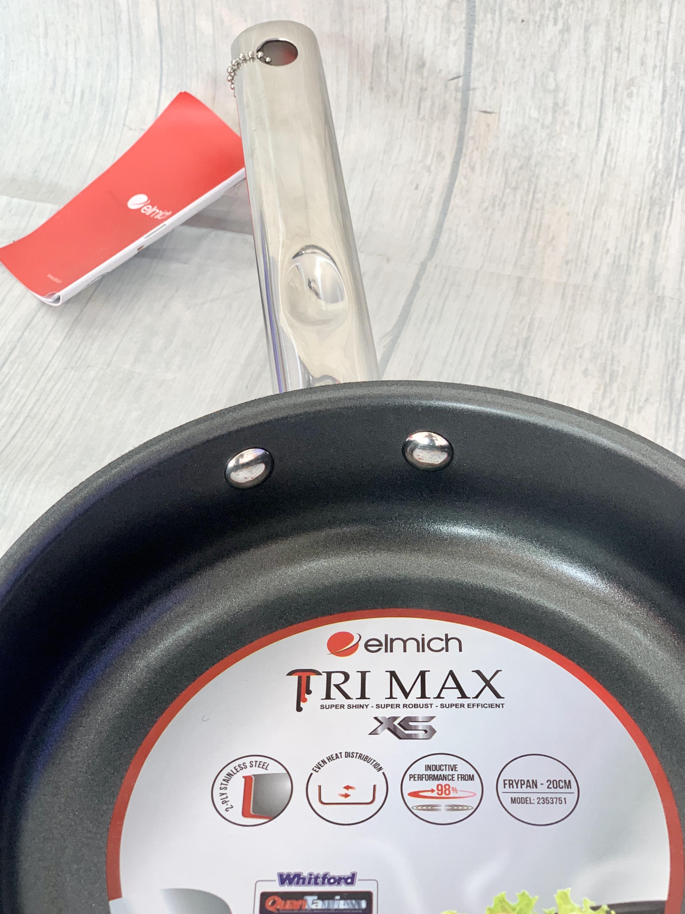 CHẢO INOX CHỐNG DÍNH ELMICH 2 LỚP CAO CẤP ĐÁY LIỀN TRI-MAX XS 20CM