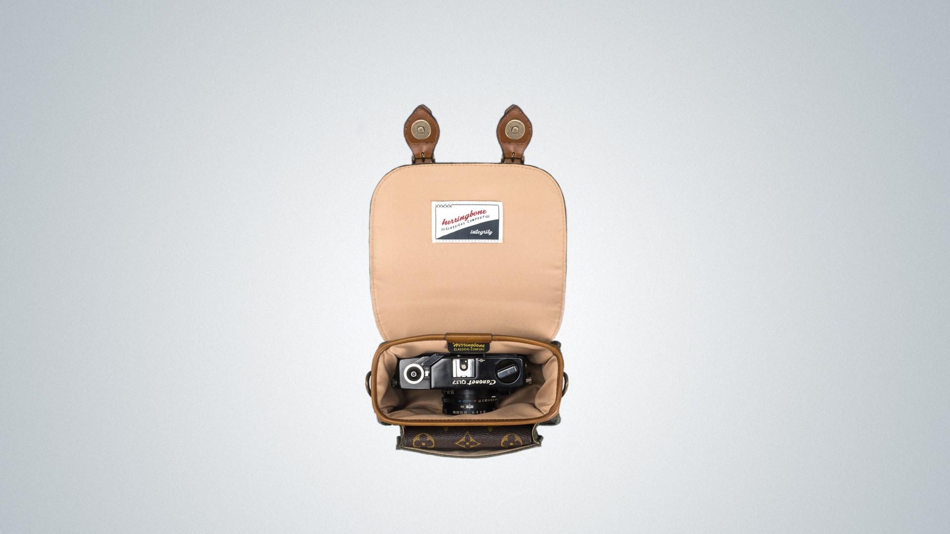 Túi máy ảnh Herringbone Papaspocket V4 Micro - Khaki color (Thương hiệu Hàn Quốc) - Hàng chính hãng