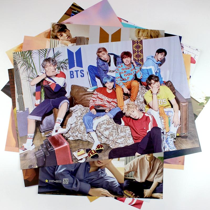 Poster 8 tấm idol BTS album mới