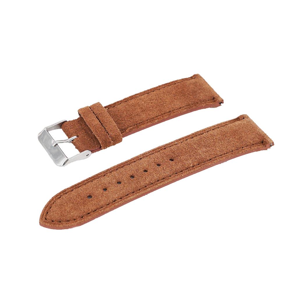 Dây đồng hồ chốt thông minh chất liệu da lộn da bò thật vintage cho đồng hồ thể thao đồng hồ thời trang SNK, SKX007, SNZG15, SNZG09, SRPE, SRPD, Cal.7s36