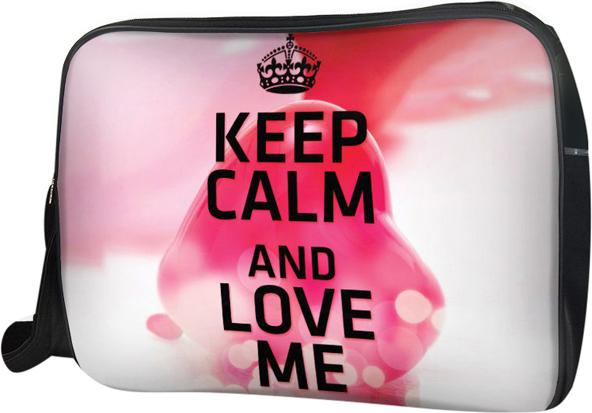 Túi Đeo Chéo Hộp Unisex Keep Calm & Love Me - TCTE118 34 x 9 x 25 cm