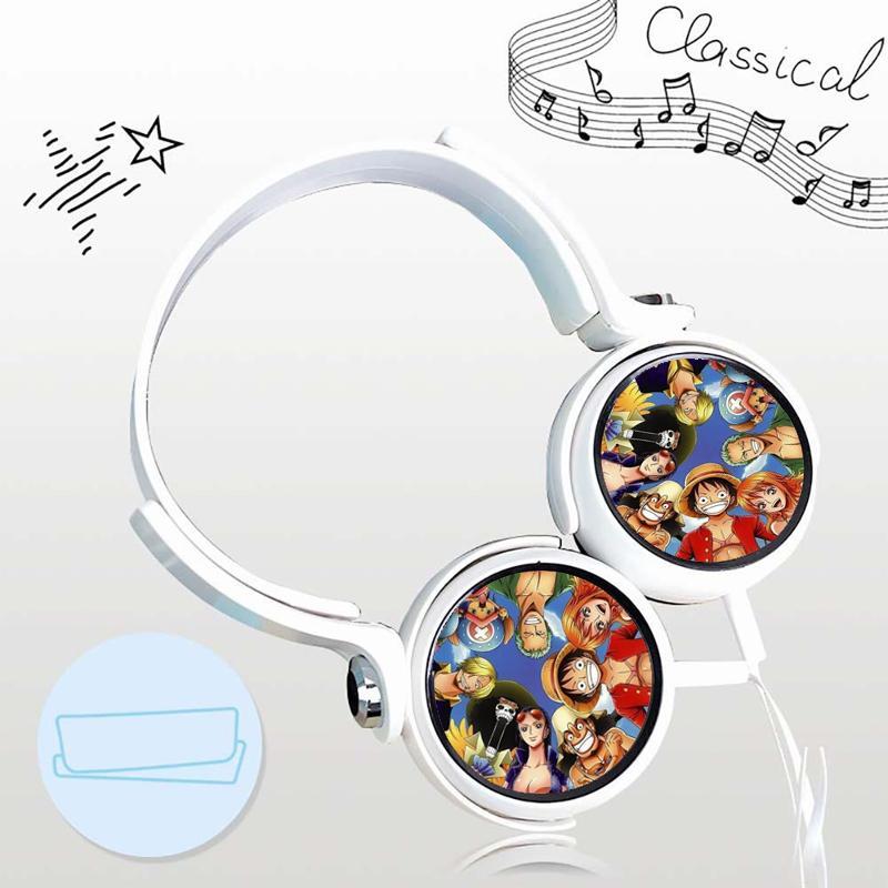 Tai nghe One piece anime chibi thiết kế thông minh cá tính cắm dây có mic