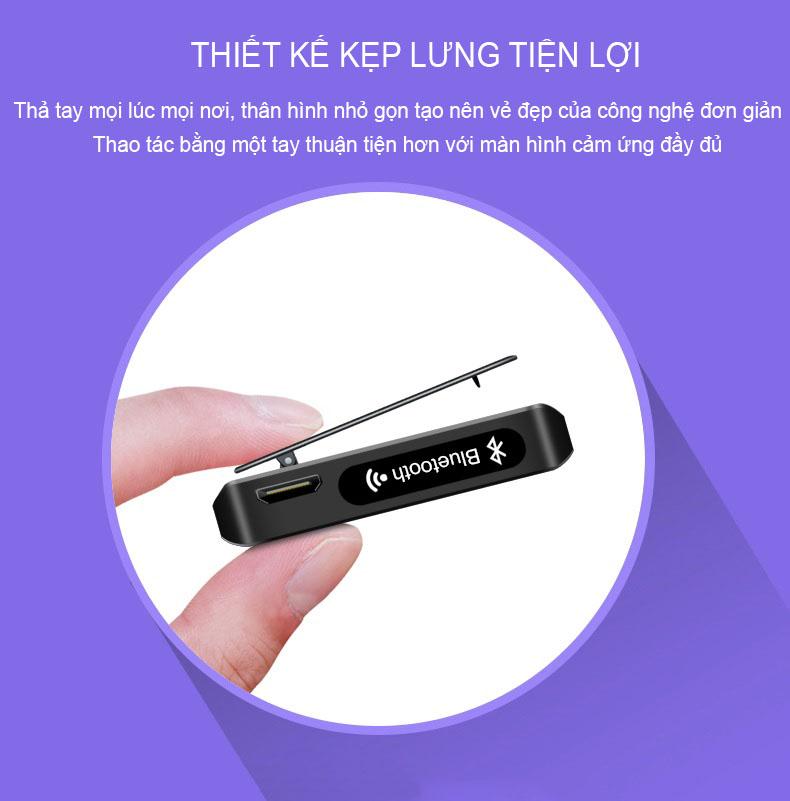 Máy Nghe Nhạc MP3 Màn Hình Cảm Ứng Bluetooth Ruizu M5 Bộ Nhớ Trong 8GB - Hàng Chính Hãng