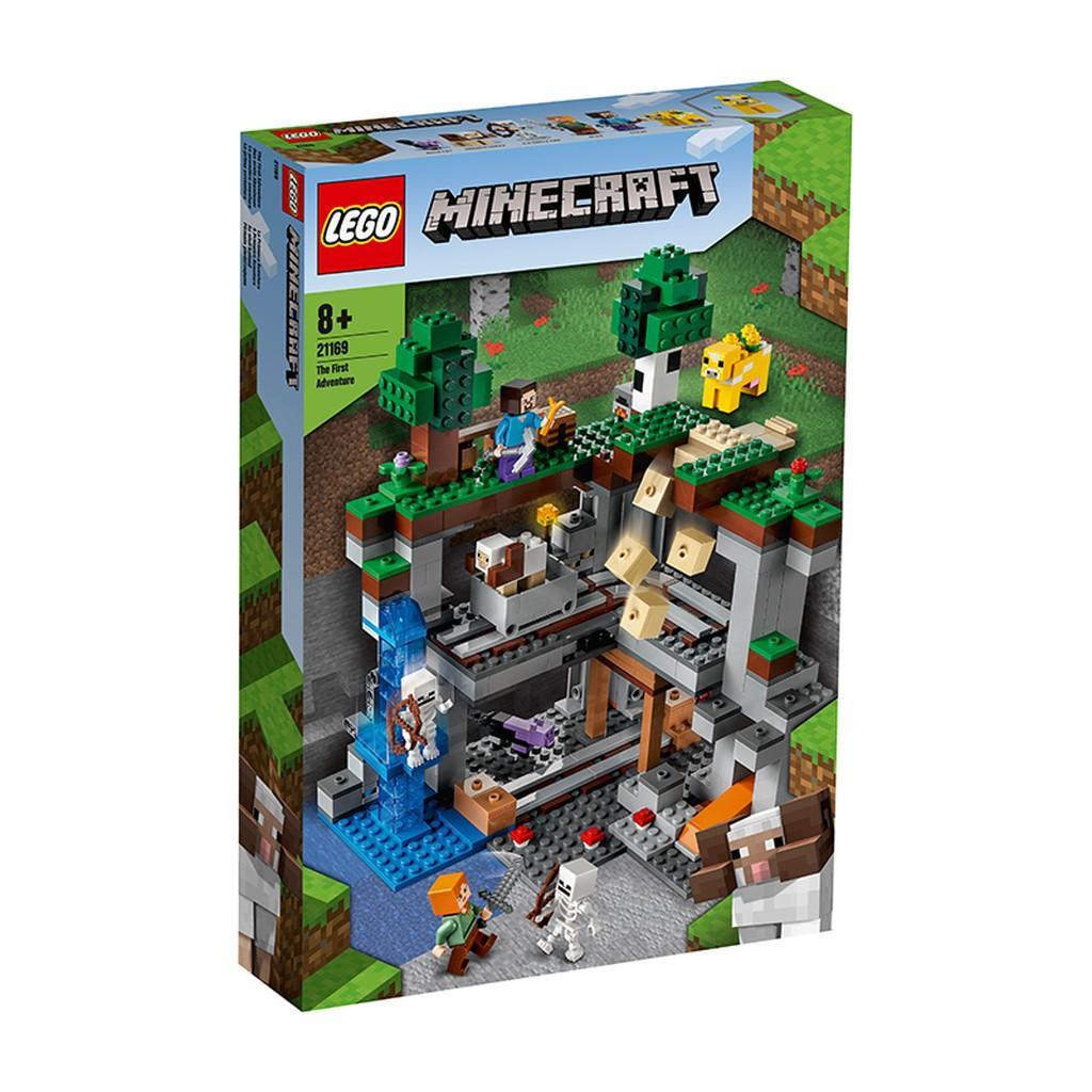 Đồ Chơi Lắp Ráp LEGO MINECRAFT Cuộc Phiêu Lưu Đầu Tiên 21169 Cho Bé Trên 8 Tuổi