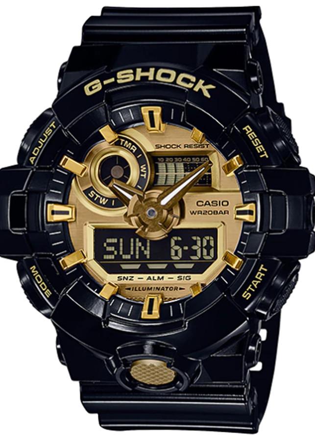 Đồng hồ nam dây nhựa Casio G-SHOCK GA-710GB-1ADR