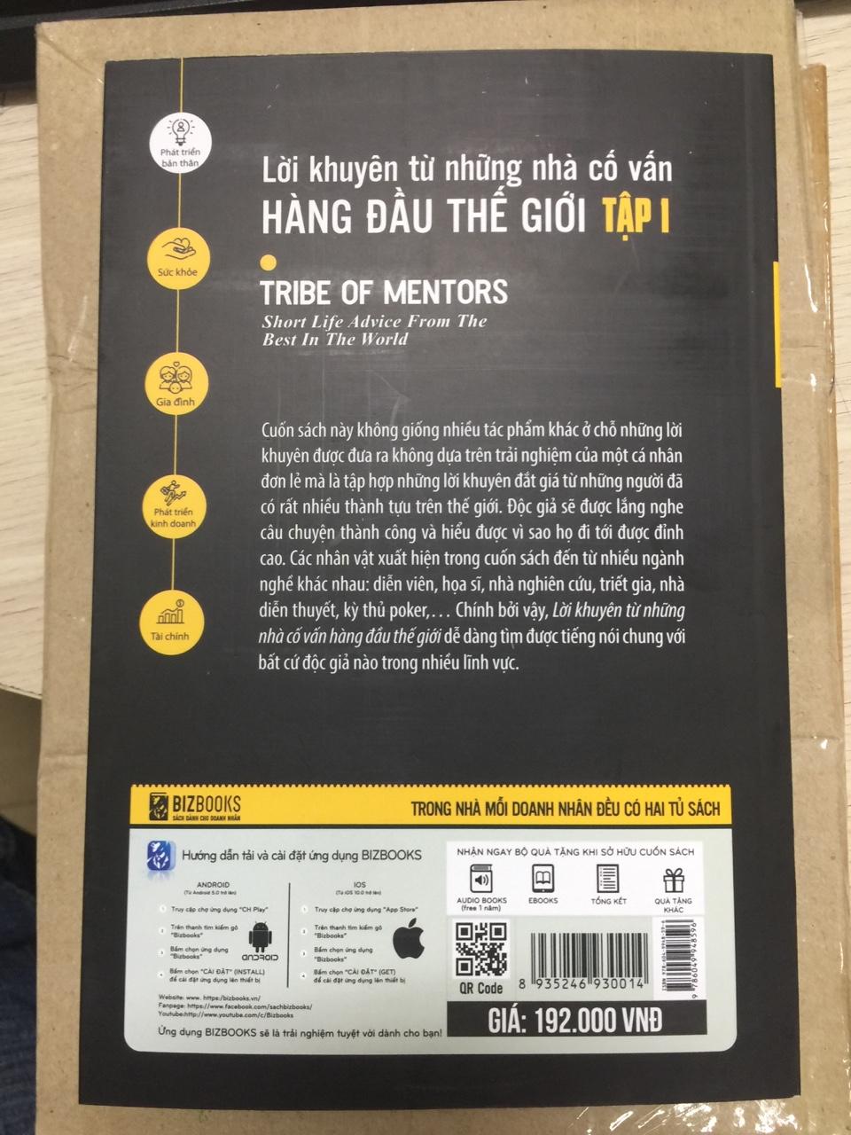 Combo bộ 2 cuốn Lời khuyên từ những nhà có vấn hàng đầu thế giới tập 1+2tv