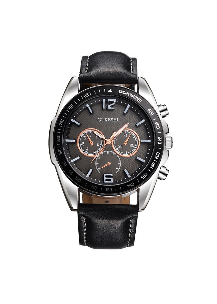Đồng hồ thời trang nam dây da Oukeshi PKHROU005 (đường kính mặt: 42 mm)