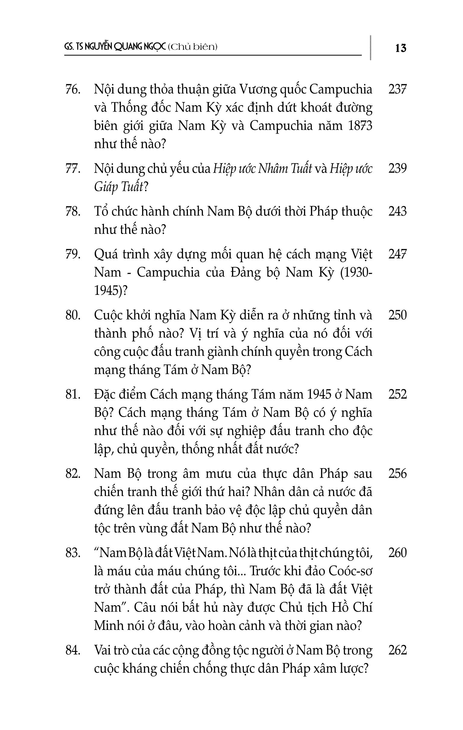 Hỏi Đáp Về Lịch Sử Vùng Đất Nam Bộ Việt Nam