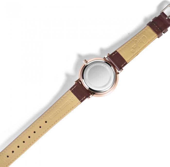 Đồng hồ Onlyou Nam 328060GD Dây Da 42mm