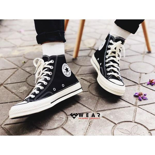 Giày Sneakers Unisex Converse Chuck Taylor All Star 1970s Black/ White - 162050V