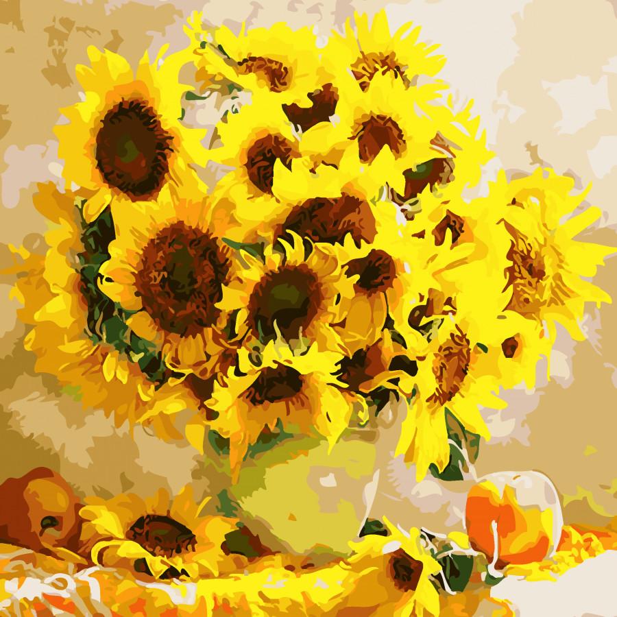 Tranh tô màu theo số hoa hướng dương 47