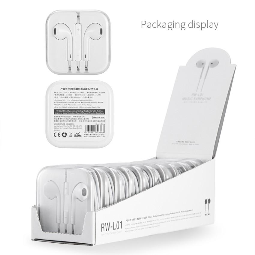 Tai nghe nhét tai cho iPhone Jack 3.5 Remax RW-L01 - Hàng chính hãng