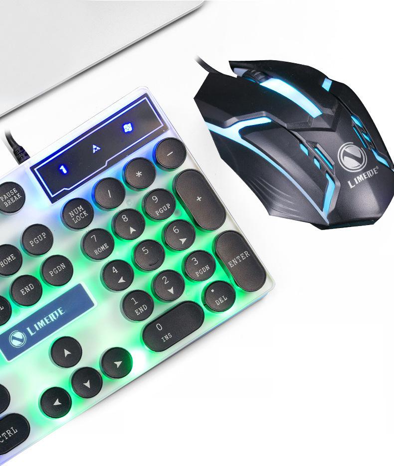 Bộ Bàn Phím Giả Cơ Và Chuột Chuyên Game GTX300 Led 7 Màu