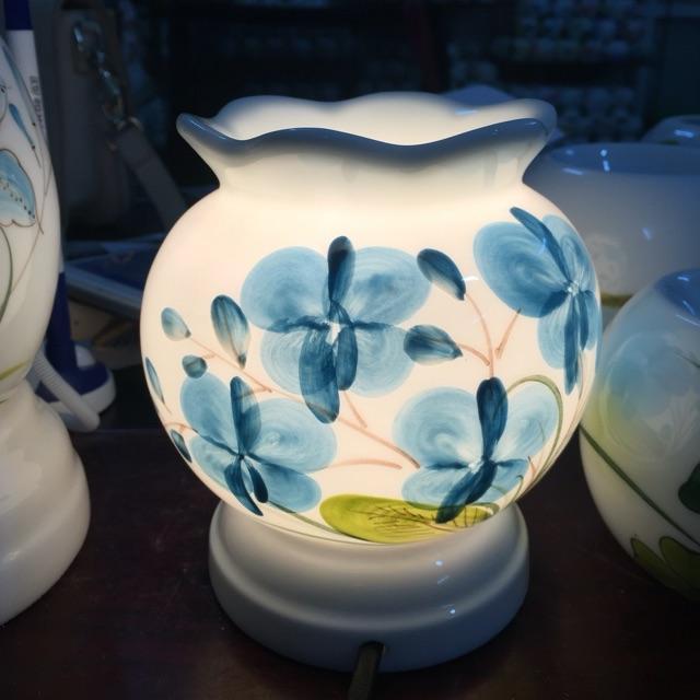 Combo đèn xông tinh dầu kiêm đèn ngủ gốm sứ Bát Tràng