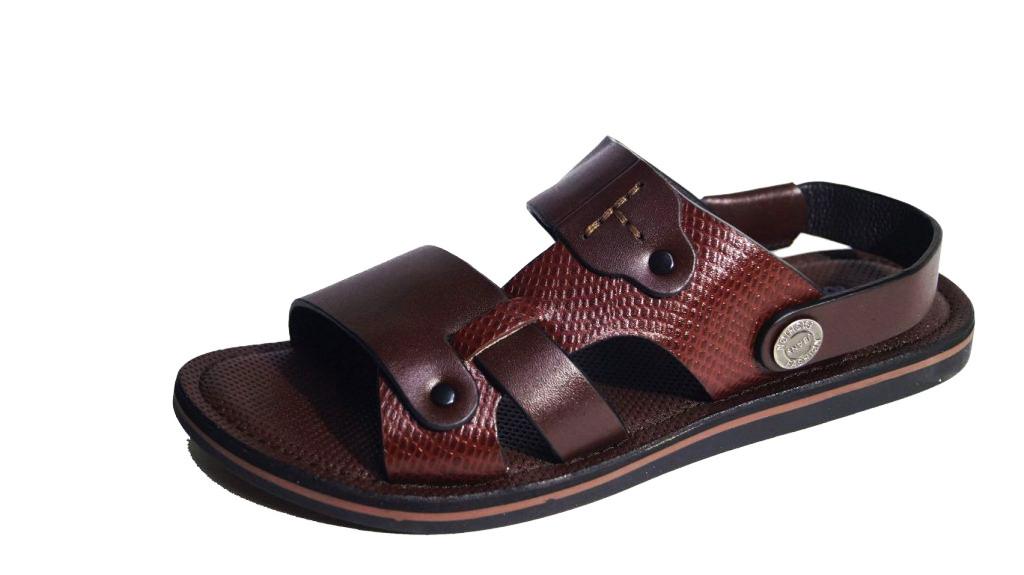 Sandal nam da bò thật màu nâu. Mã số: SD30