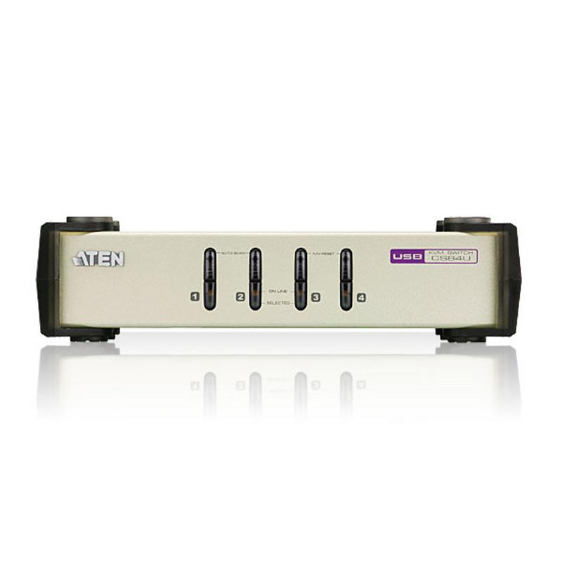 Bộ chuyển đổi 4 cổng PS/2- USB VGA Aten CS84U - Hàng chính hãng
