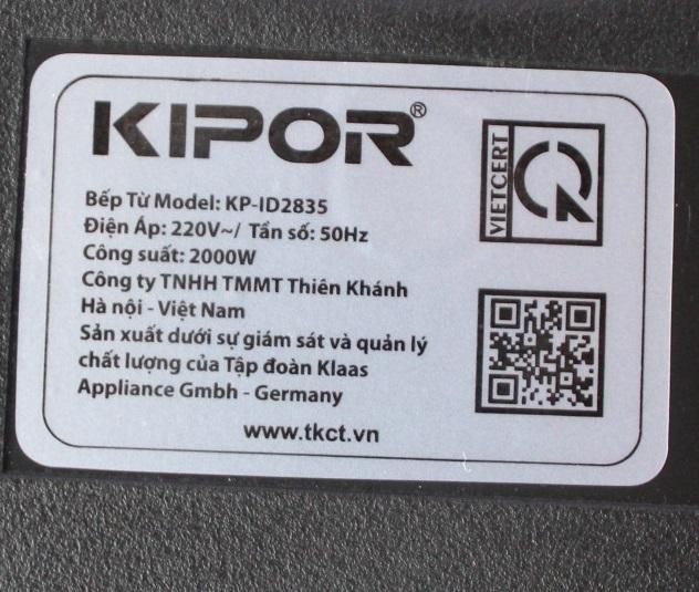 Bếp Điện Từ Đơn Cảm Ứng Cao Cấp Kipor KP-ID2835 - Màu Ngẫu Nhiên - Chính Hãng