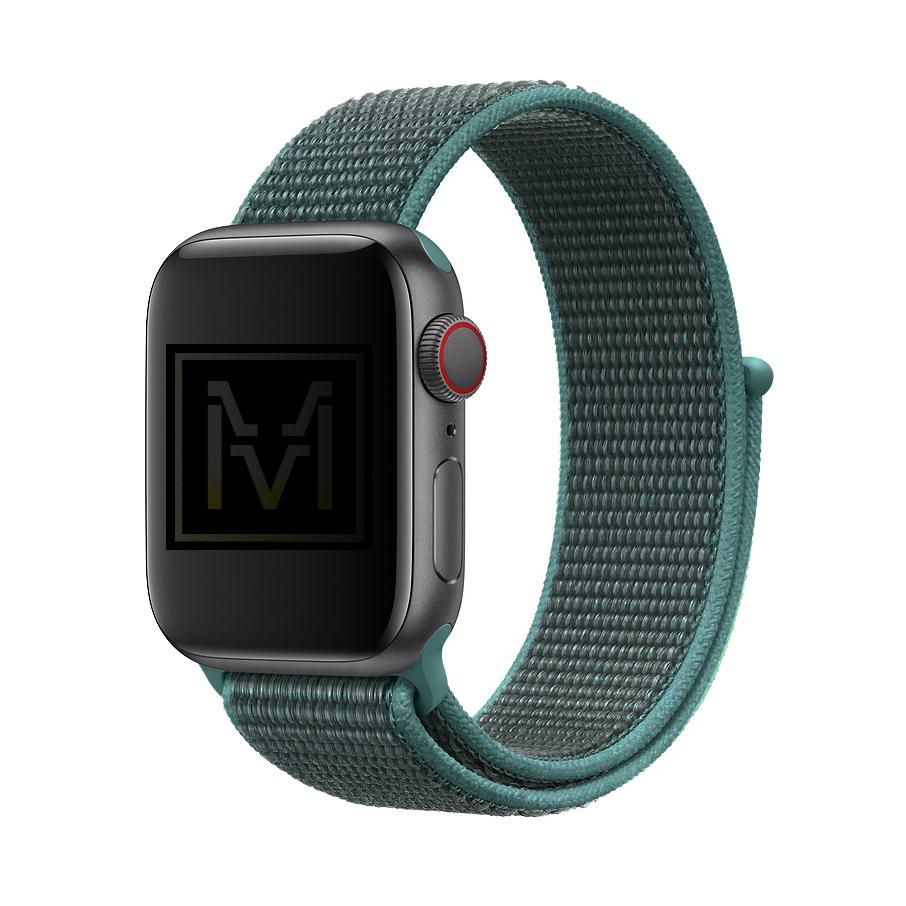 Dây Nylon Sport Loop Màu Xanh Pine Cho Apple Watch