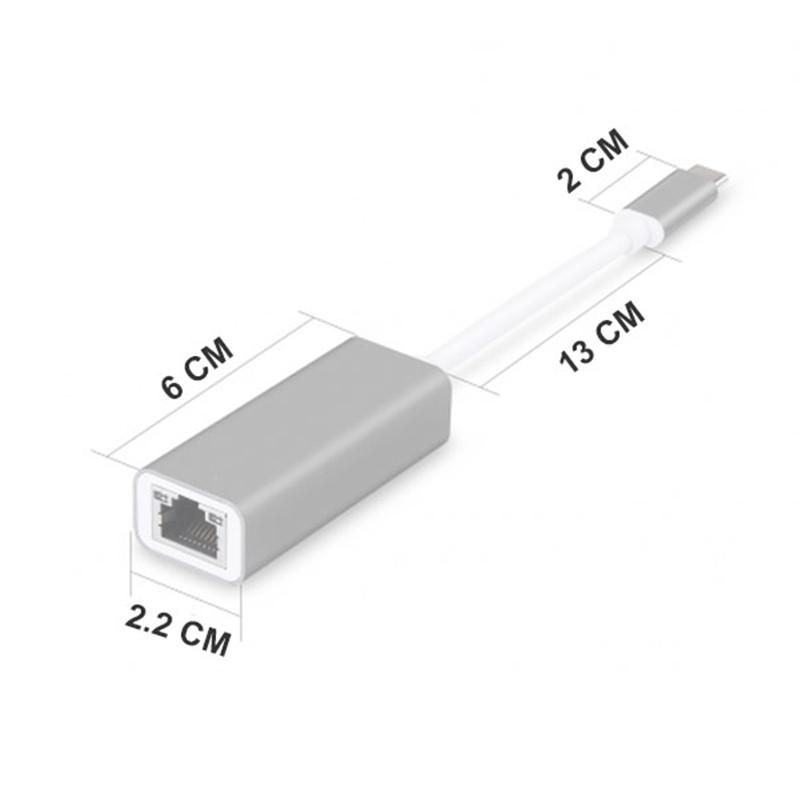 Adapter USB Type C ra Ethernet RJ45