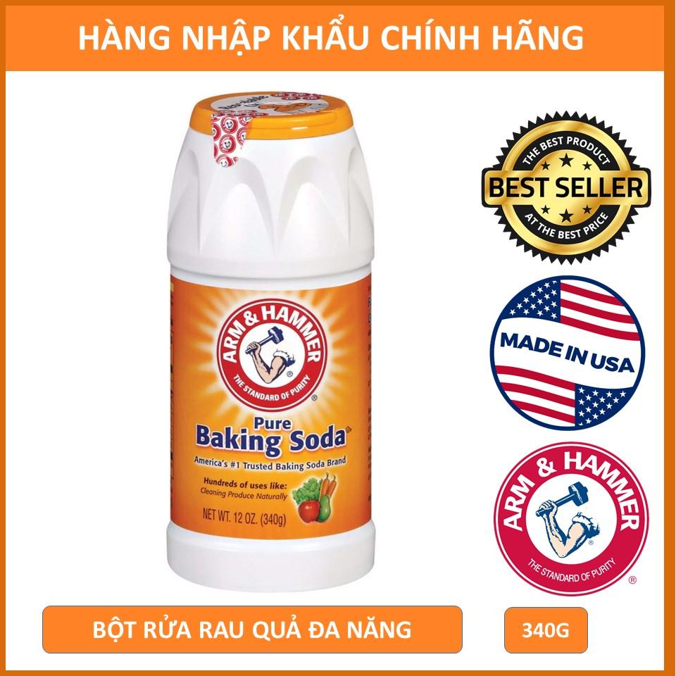 Bột Rửa Rau Quả Đa Năng Baking Soda Arm&Hammer Pure Baking Soda 340g/hủ
