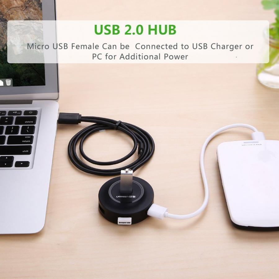 Bộ Chia USB 2.0 4 Cổng Ugreen 20277 - Hàng Chính Hãng