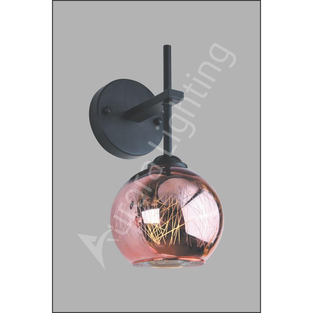 - Đèn phòng ngủ gắn tường chao thủy tinh VB-1100 ARR