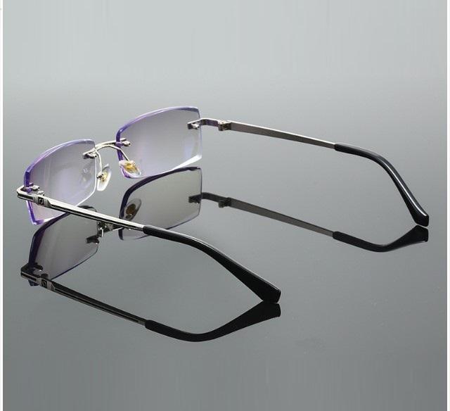 Kính lão thị viễn thị trung niên gọng khoan nam tính chống bức xạ kv4n
