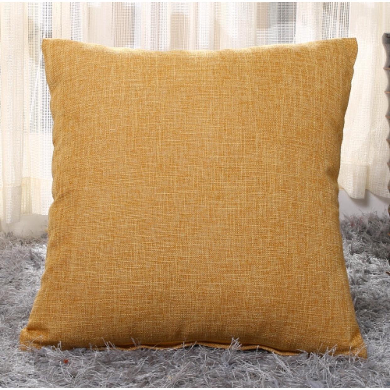 Vỏ gối tựa lưng, gối vuông trang trí vải bố dày dặn Trơn Màu  cao cấp sang trọng