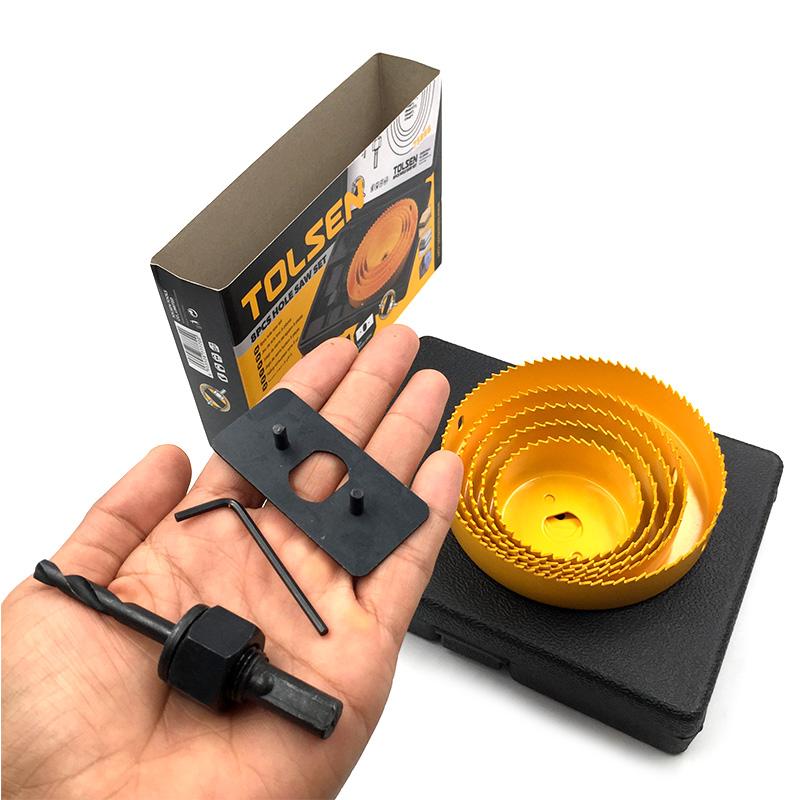 Bộ 8 Món Mũi Khoét Gỗ Tolsen 75866 (64mm - 127mm)