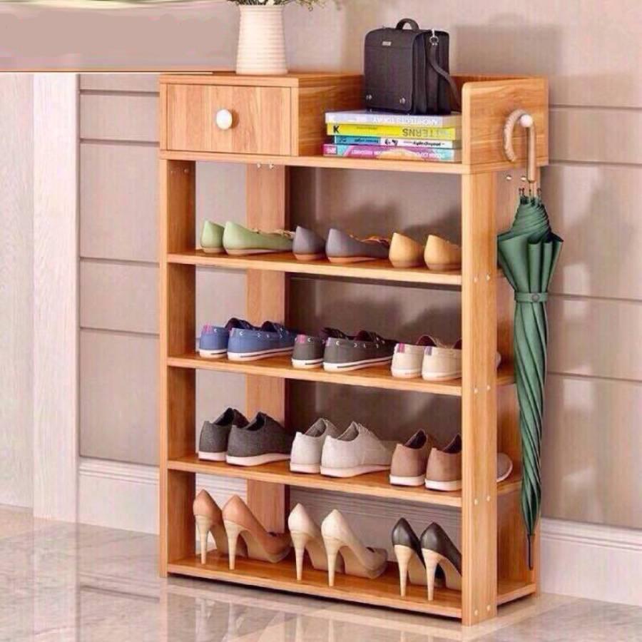 Giá để giày, Kệ Giày, kệ giầy dép - Tủ giày gỗ 5 tầng