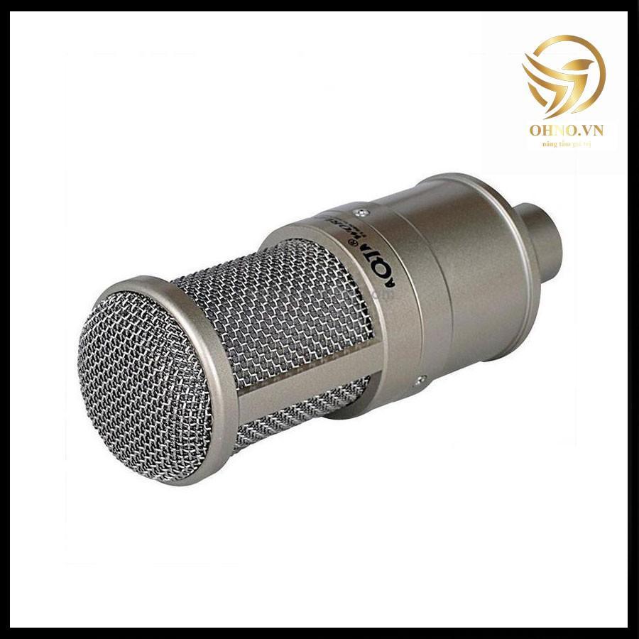 Micro Thu Âm Cao Cấp AQTA AQ 220 Bộ Mic Hát Thu Âm Karaoke
