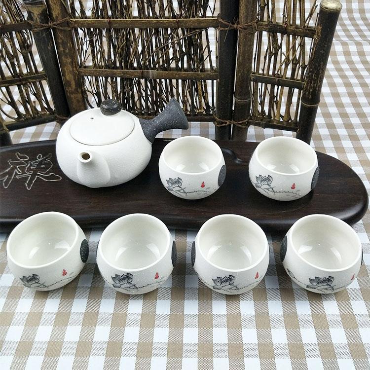 Bộ ấm chén pha trà Định Châu Hoa Sen