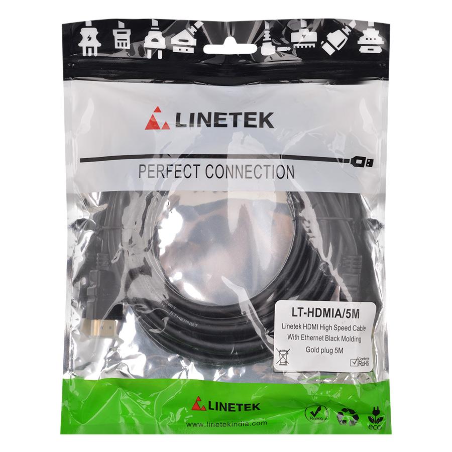 Cáp HDMI Linetek LK-SHDMI 2.0/5M (5m) - Hàng Chính Hãng