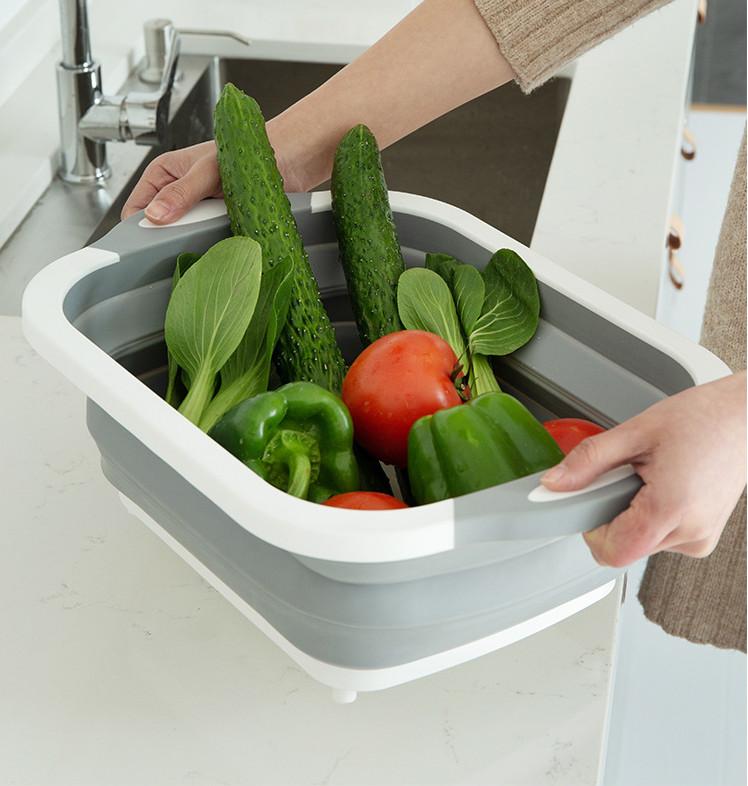 Thớt Nhựa Đa Năng 3 in 1 Kiêm Chậu Rửa,Rổ Đa Năng,Thớt Siêu Tiện Dụng