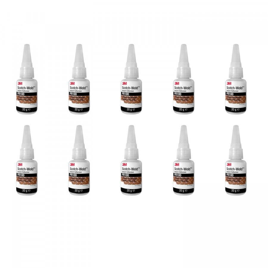 Hộp 10 chai keo dán đa năng siêu dính Scotch-Weld 20g 3M PR100