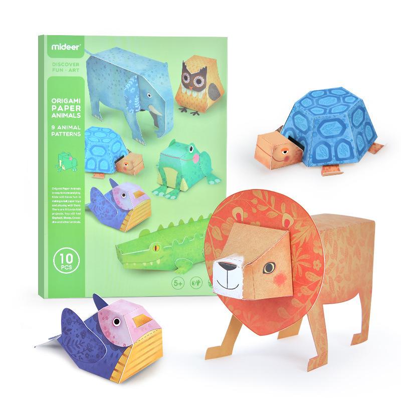 Mideer 3D Origami Animals- Bộ giấy xếp hình thủ công 3D Origami Động Vật