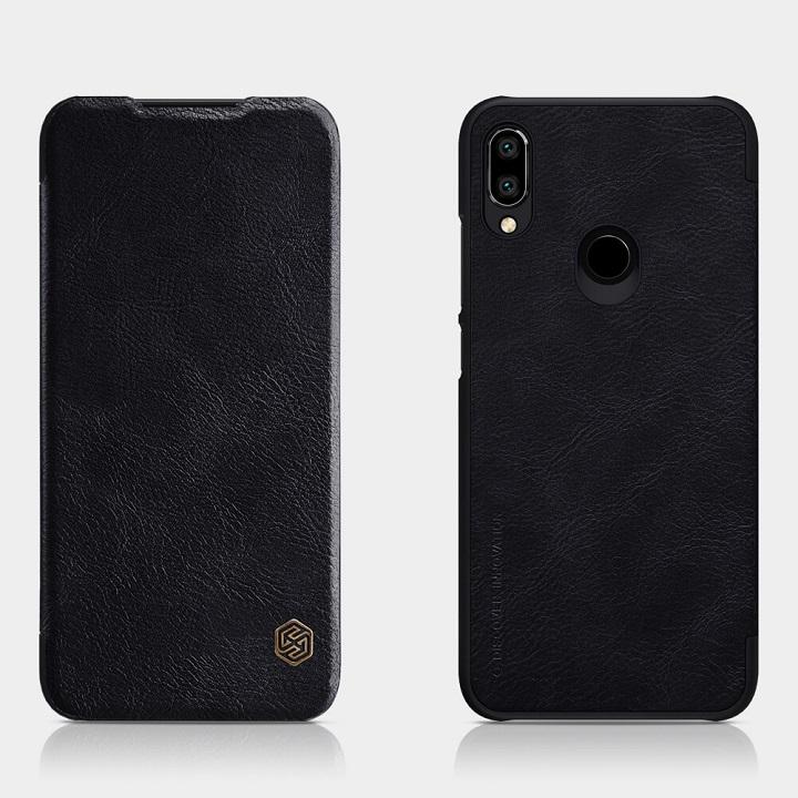 Bao da cho Xiaomi Redmi Note 7- chính hãng nillkin Qin - đen