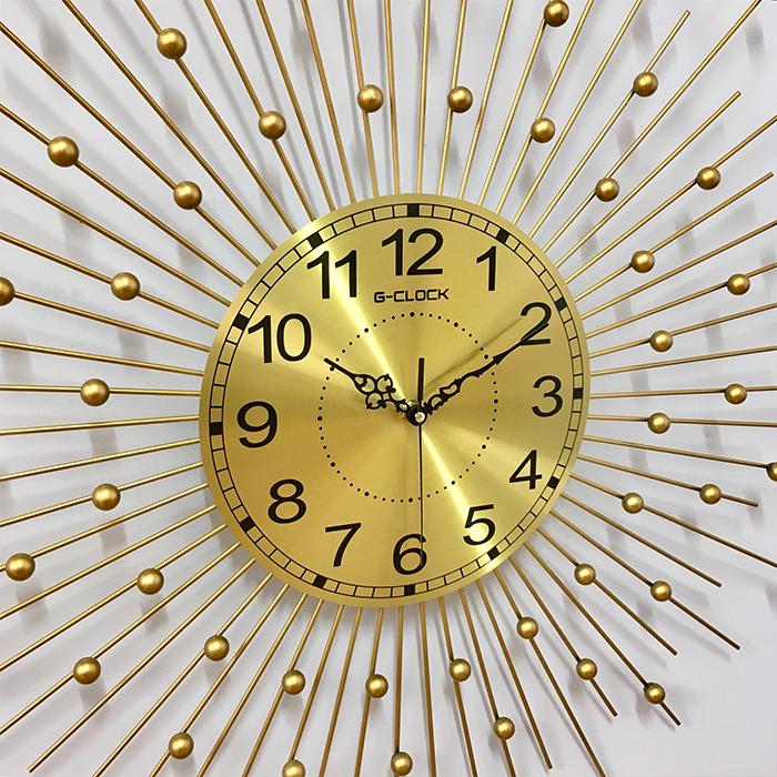 Đồng hồ treo tường GCLOCK loại to KT 70X70 (cm) cao cấp làm từ kim loại sơn tĩnh điện chạy máy kim trôi chuẩn (2017)