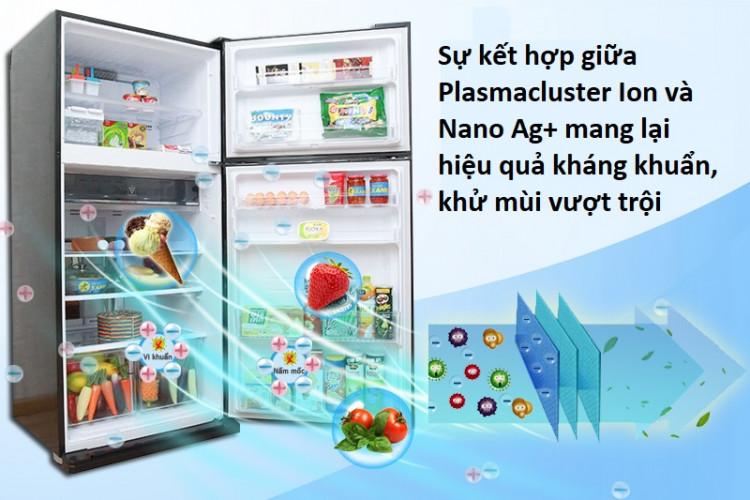 Bộ khử mùi phân tử bạc Nano Ag+ kết hợp Plasmacluster Ion ngăn chặn vi khuẩn và mùi hôi bên trong tủ lạnh