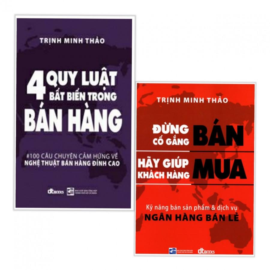 Combo sách bán hàng hay cho mọi thời đại: 4 quy luật bất biến trong bán hàng + Đừng cố gắng bán hãy giúp khách hàng mua -Tặng kèm bookmark thiết kế