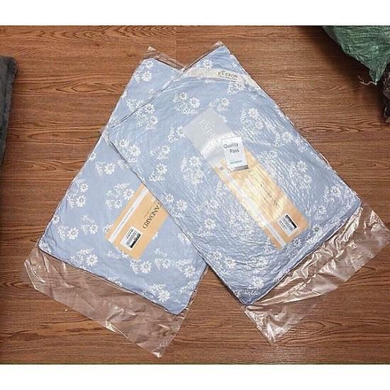 Bộ Chăn Ga Cotton Đũi Rem Bèo 4 Món Chăn Trần Bông - CTDA25