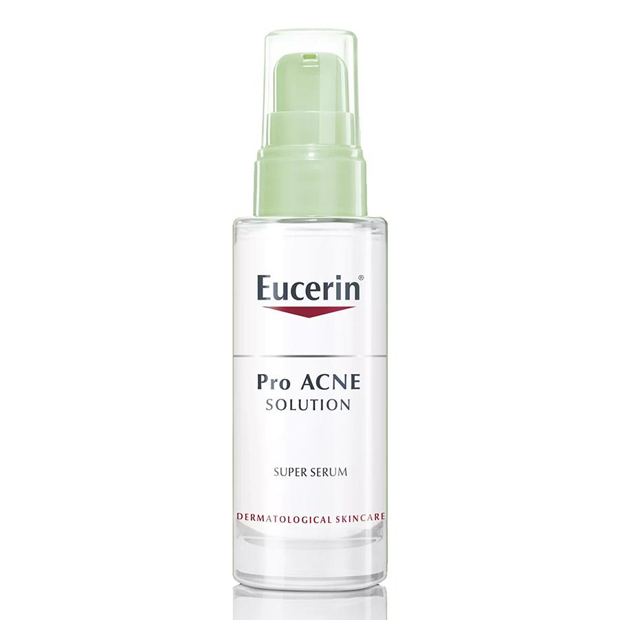 Bộ Serum Hỗ Trợ Trị Mụn Eucerin ProAcne Solution Super Serum (30ml) Và Nước Tẩy Trang Da Mụn Eucerin Pro ACNE Solution Acne & Make-up Cleansing Water (200ml)