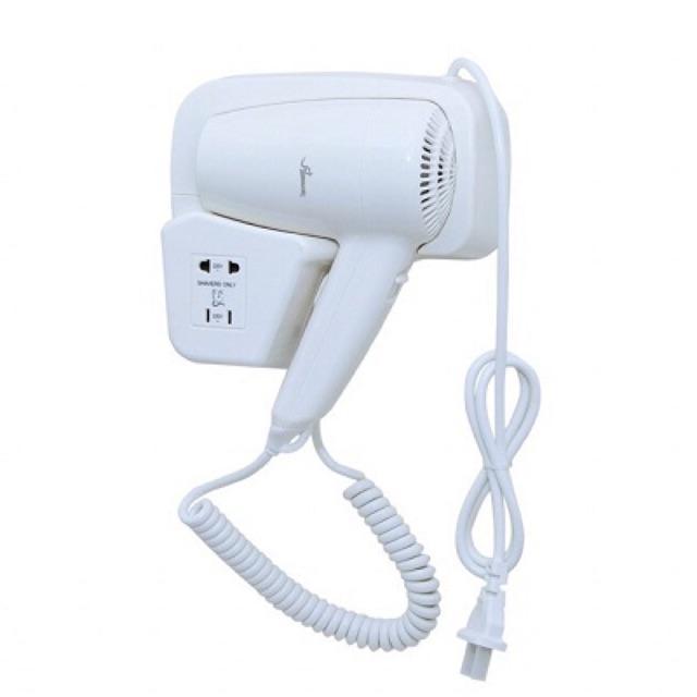 Máy sấy tóc có giá để chuyên dụng trong nhà tắm, loại có ổ cắm phụ