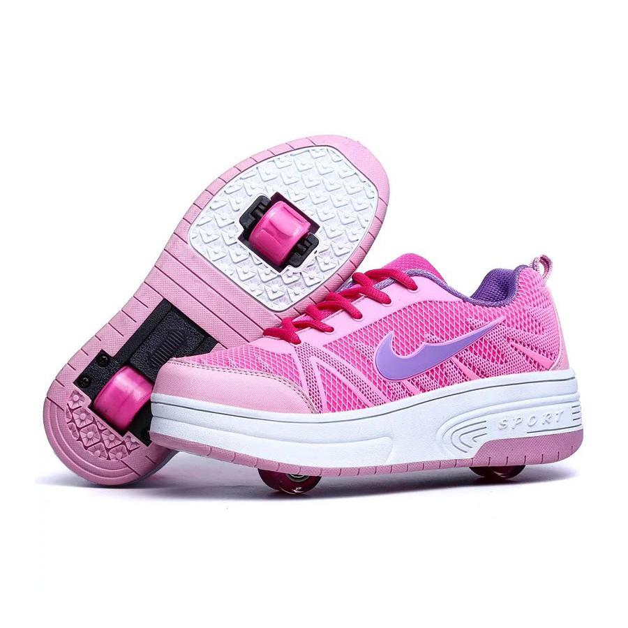Giày Trượt 2 Bánh Gót Cho Bé Gái 3 - 15 Tuổi GB01 - Hồng - 32