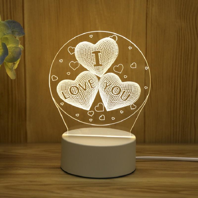 Đèn Ngủ 3D Trang Trí Quà Tặng Độc Đáo