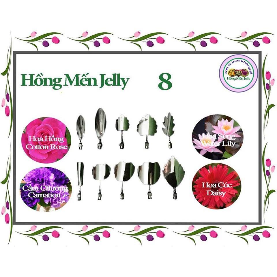 Combo 8 Kim thiết kế Hoa Hồng, Cẩm Chướng, Hoa Cúc