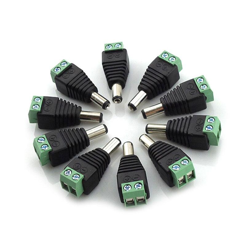 Bộ 10 jack cắm nguồn điện DC đuôi đực