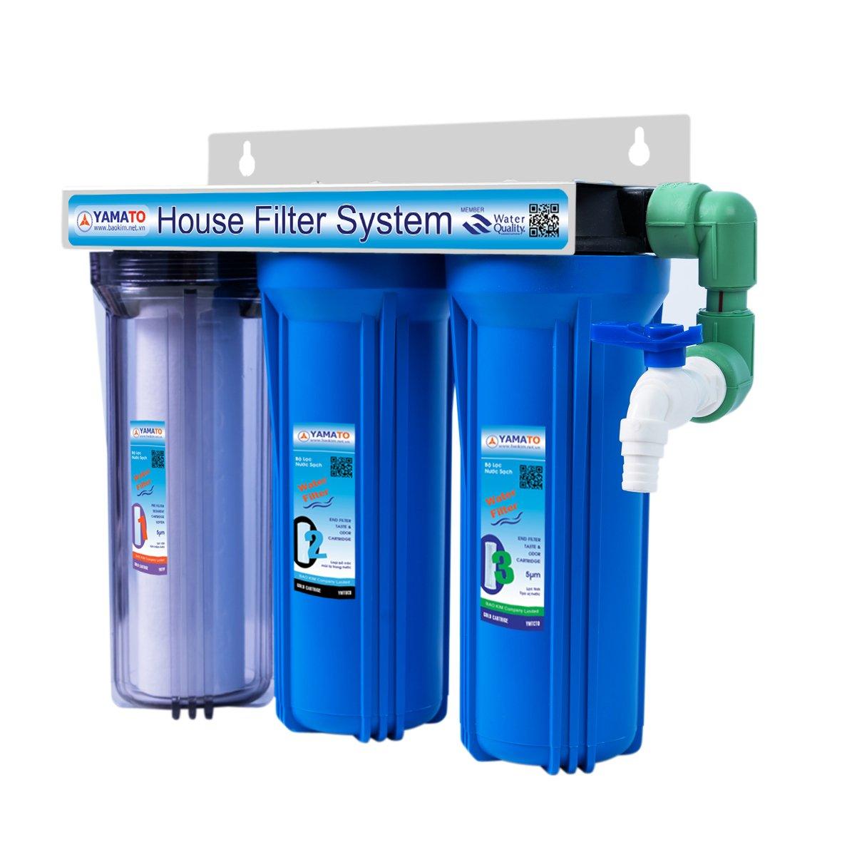 Bộ lọc nước  sinh hoạt gia đình Yamato 10 inch – 3CWPP (Bao gồm phụ kiện kết nối + vòi)