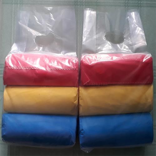 12 cuộn Túi rác ni lông 3 màu