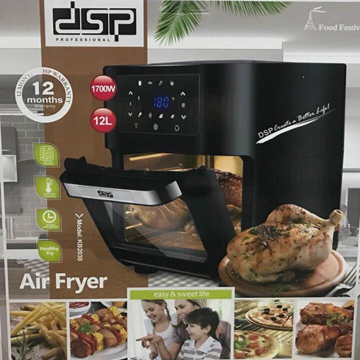 Lò nướng không khí, Bếp chiên không khí cao cấp DSP KB2030 Công Suất 1700W, Dung Tích 12 Lít - Hàng nhập khẩu